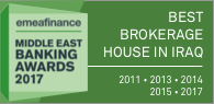 "Winner of EMEA Finance's ""Middle East Banking Awards /  Best Brokerage House in Iraq / 2011 & 2013 & 2014 & 2015 & 2017"